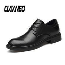 CLAXNEO Man Formal Shoes Autumn Genuine Leather Dress Shoe Male Derby Footwear clax Oxfords Mens Business Big Size