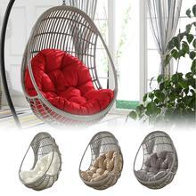 Columpio colgante cesta cojín Thicken Hanging silla almohadilla para casa Patio jardín sala de estar camas colgantes mecedora asientos