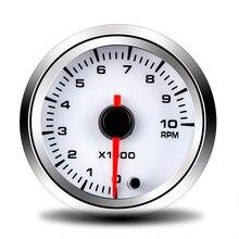 52MM Tachometer RMP Meter Instrument 7 Colors Changes 0~10×1000 rpm Car Modification Parts Fit for 12 Volt Car Gauge Pod Holder