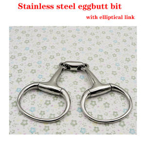 Stainless-Steel Link.horse with Elliptical Product. RBT0319 Eggbutt-Bit