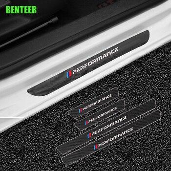 M Performance Carbon Fibre car door Protector sticker for BMW E34 E36 E60 E90 E46 E39 E70 F10 F20 F30 X5 X6 X1 M2 M3 M5 M4 цена 2017
