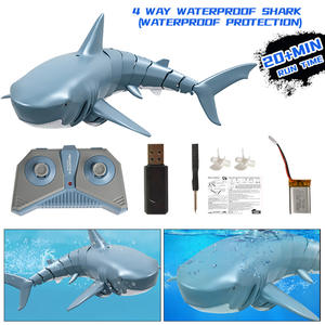 Remote Control Shark 2.4G Electric Simulation RC Fish 20 Minutes Rechargeable Battery Water Swimming Pool Children Toys