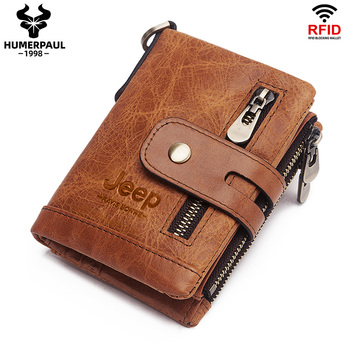Luxury Designer Men Wallet Genuine Leather Bifold Short Wallets Male Hasp Vintage Purse Coin Pouch Multi-functional Cards Pocket 1