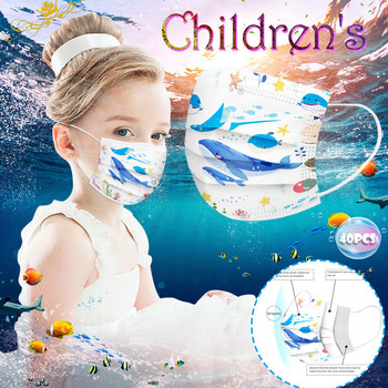 3-13 years old Disposable Elastic Mouth Cartoon painting Soft Breathable Flu Hygiene Child Kid Face Mask Dropshipping mascarilla