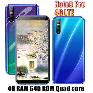 Note9 Pro 64G ROM Smartphones 4G LTE 4G RAM Quad Core Android Mobile Phone 13MP HD Camera 6.0