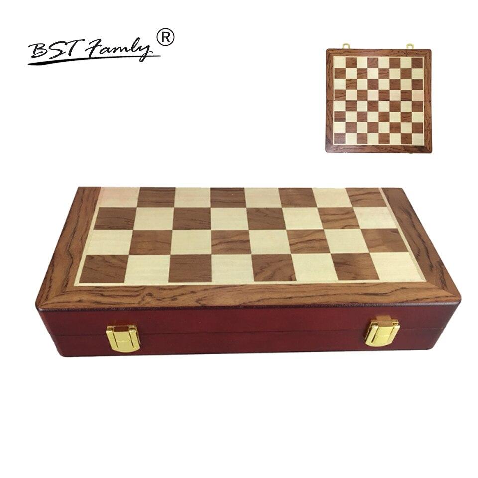 Jogo de Xadrez Tabuleiro de Madeira Adequado para Altura do Rei Bstfamly Xadrez Internacional Dobrável Ib5 67mm