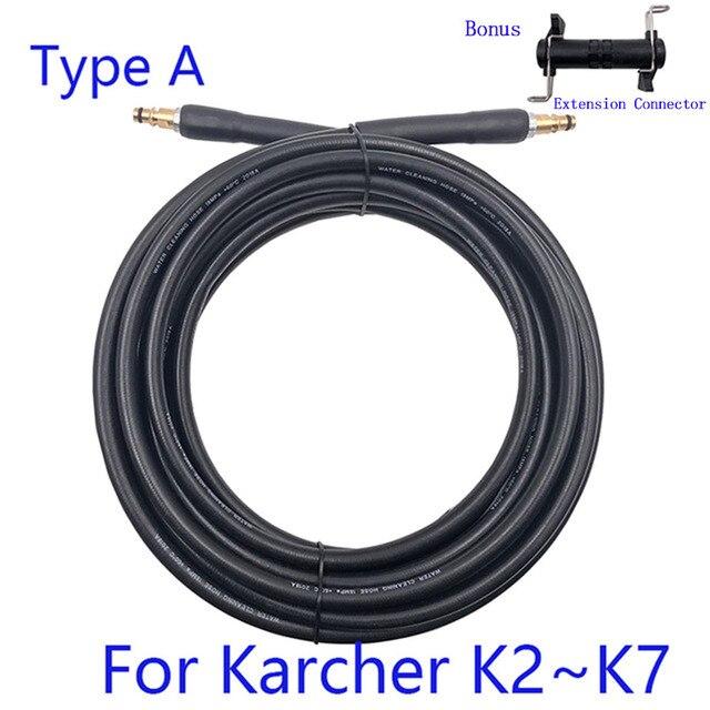Tuyau de lavage à haute pression, 6 à 15 mètres, tuyau dextension pour nettoyage deau de voiture, connexion rapide, pour Karcher série K