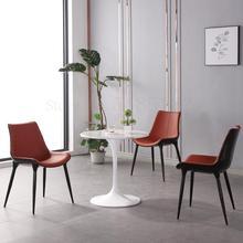 Современный минималистичный обеденный стул для дома, Скандинавский дизайн, спинка, сетка, Красный светильник роскошное кожаное кресло, кресло для отдыха