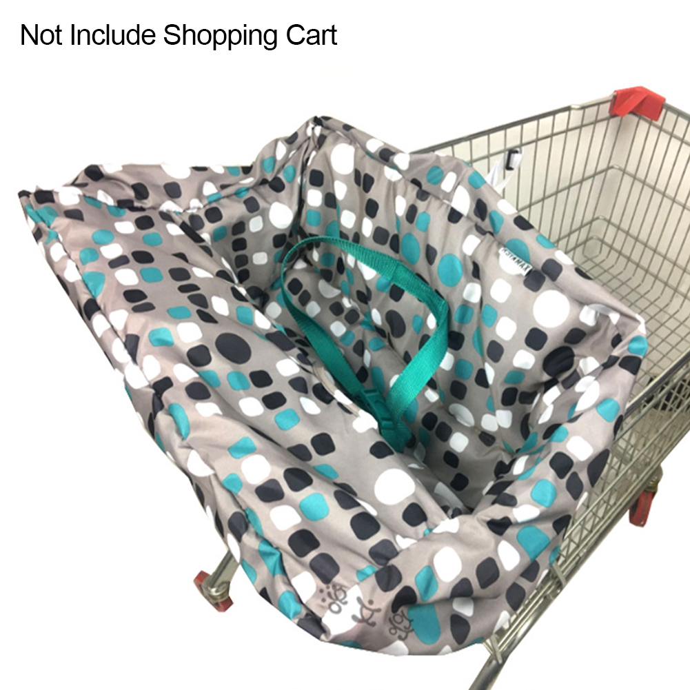 High Chair Cover Durable For Shopping Cart Non-Slip Mat Foldable Multifunctions For Baby Polyester Seat Cover