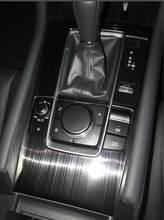 Painel de engrenagem do carro interior do carro guarnição adesivo para rhd mazda 3 2019 2020 2021, acessórios do carro