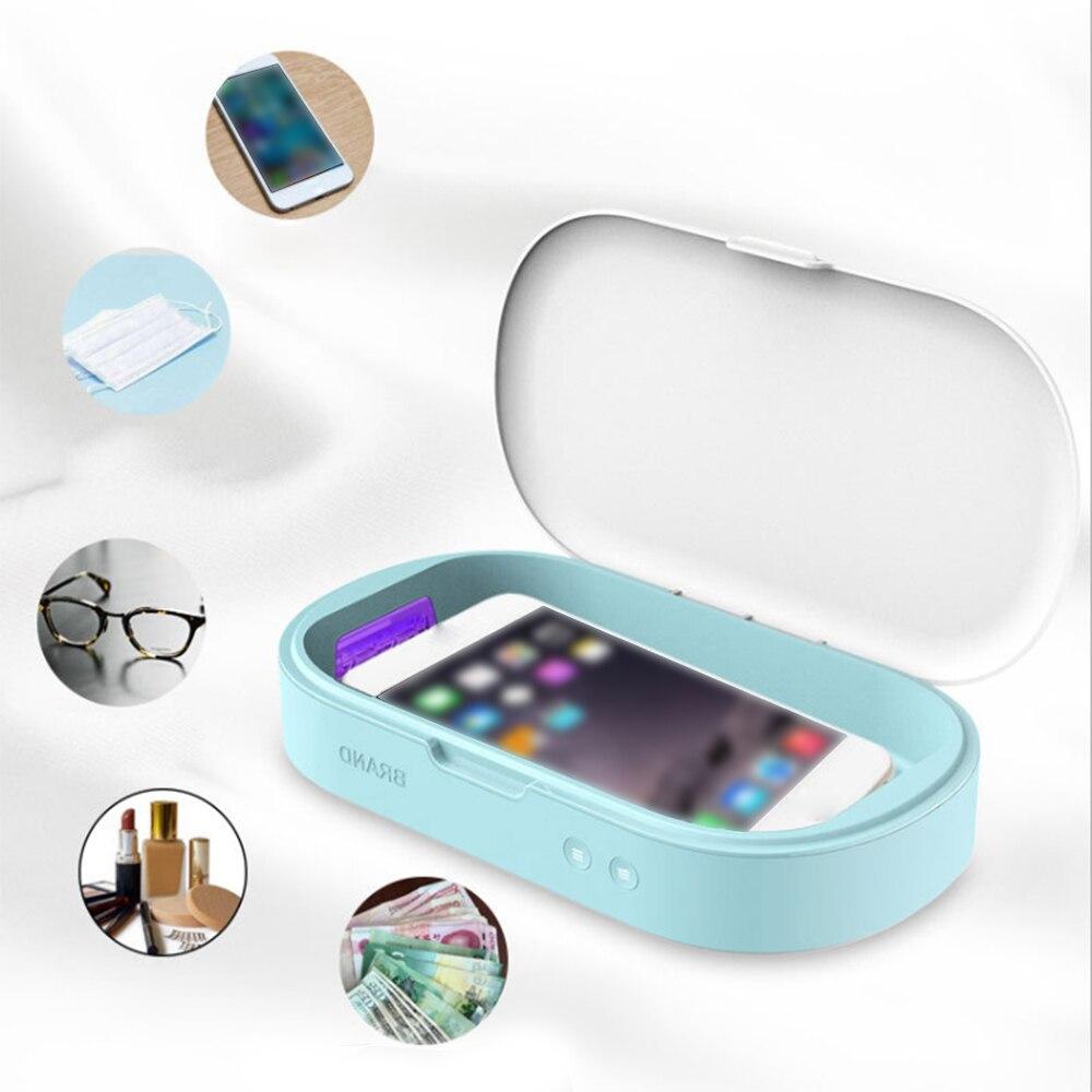 UV Lights Mask Sanitizer  Smart Phone Sanitizer Portable Toothbrush Sterilizer Cleaner Aromatherapy Function Disinfector Mask