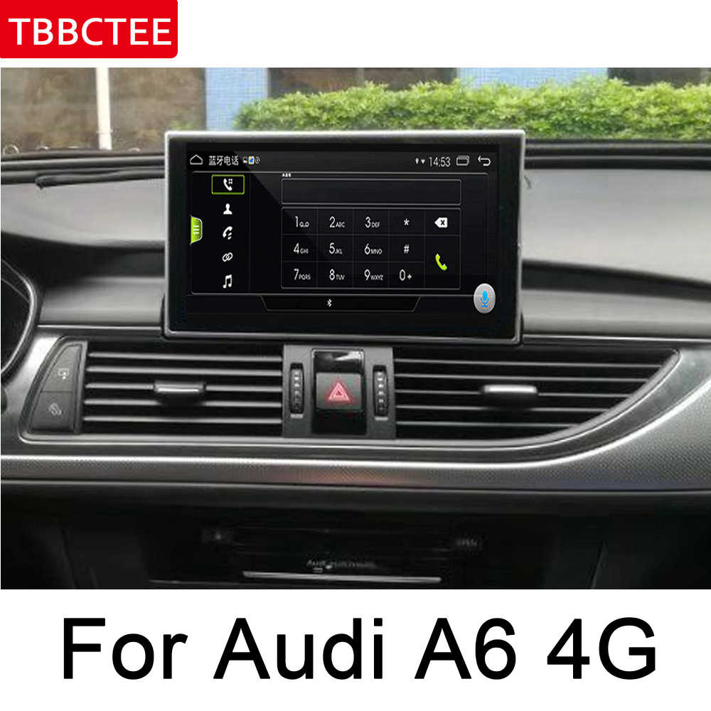 アウディ A6 4 グラム 2011 〜 2018 MMI Ips アンドロイド 8.0 アップカーマルチメディアプレーヤー GPS ナビゲーションオリジナルスタイル HD スクリーン Wifi ヘッドユニットマップ