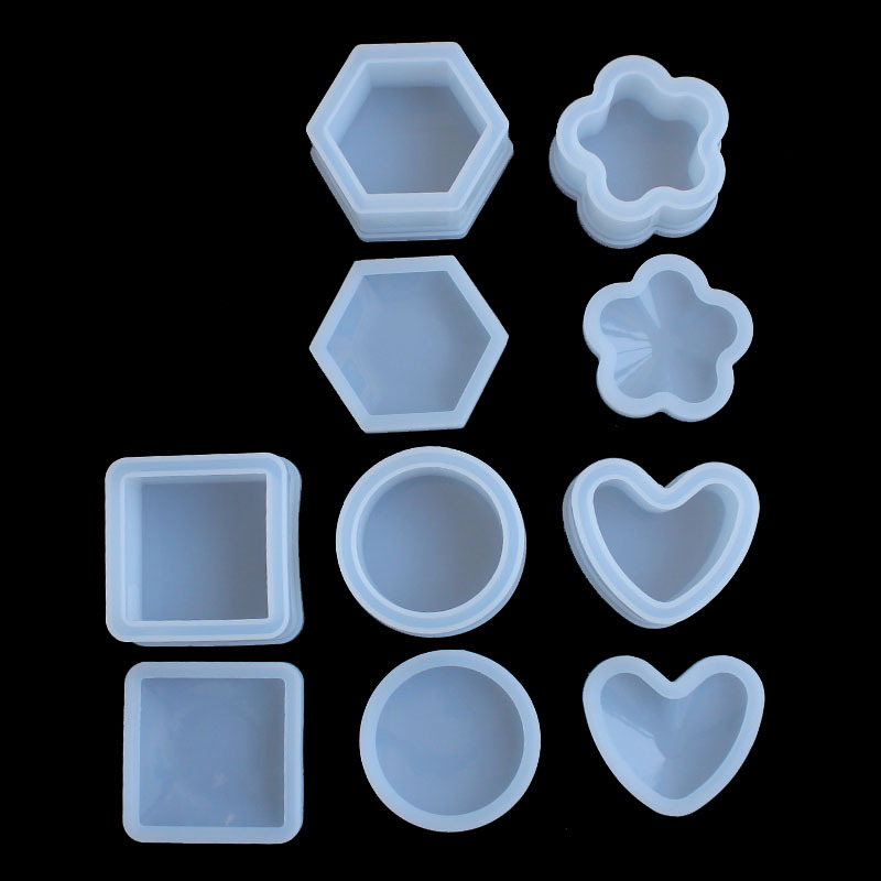 DIY Jewelry Tool Heart Round Flower Epoxy Mold Transparent Silicone Mould Phone Case Decoration Tools Cake Molds
