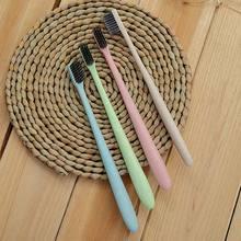 Щетка для чистки зубов из пшеничной соломы мягкая тонкая бамбуковая