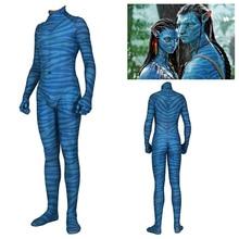 Movie Avatar 2 Jake Sully Neytiri Cosplay Costume Suit Zentai Spandex Bodysuit Jumpsuits Halloween Costume Adult Women Men Kids