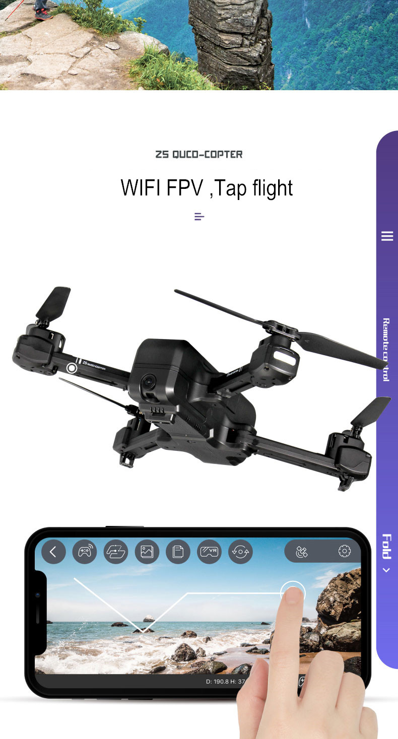 SJRC Z5 GPS RC Quadcopter Drone Helicopter With 2.4G 5G Wifi FPV 1080P Camera Altitude Hold Follow Me V f11 pro e58 16