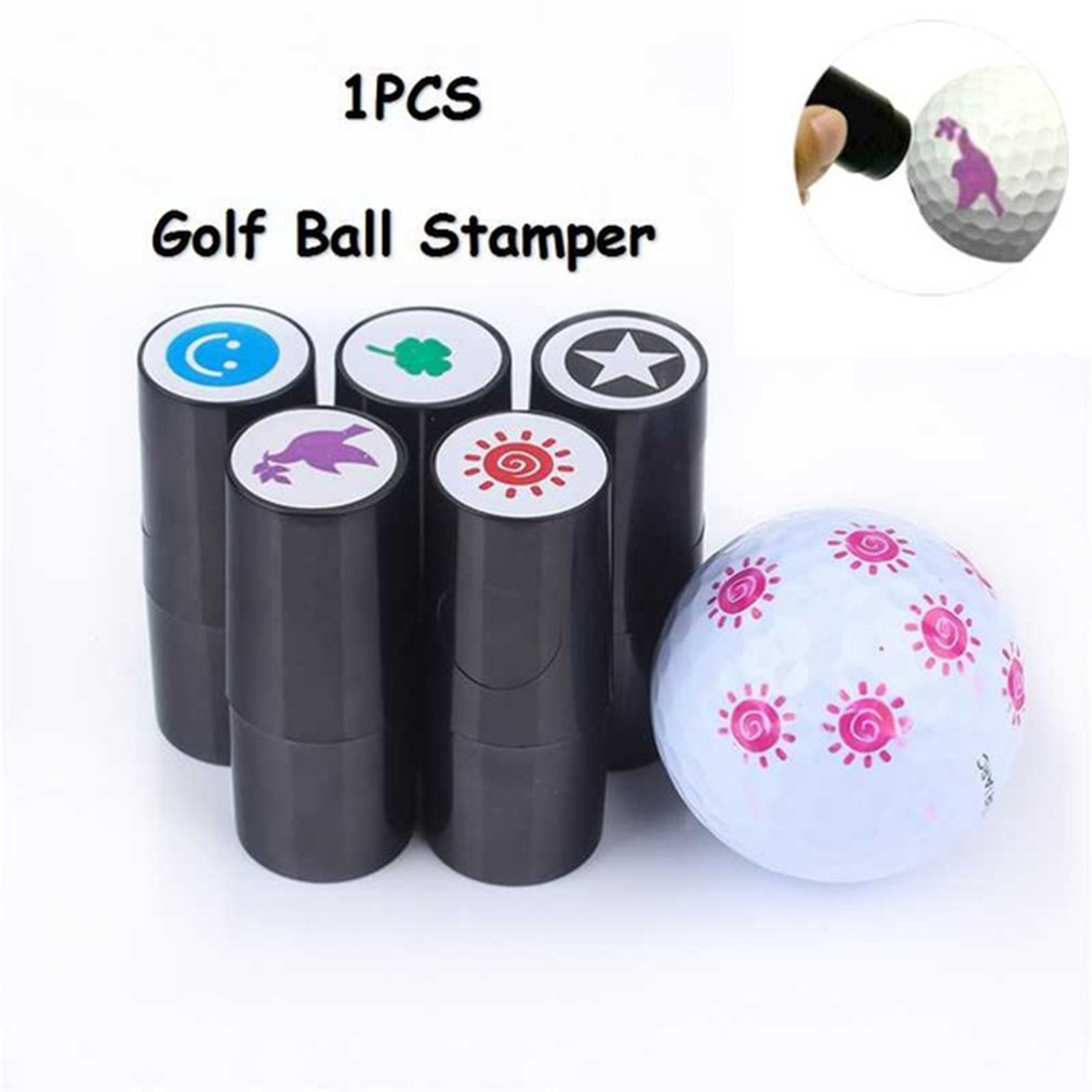Outdoor Sports Quick-dry Plastic Golf Ball Stamper Stamp Marker Impression Seal Golf Club Accessories Golfer Souvenir Gift