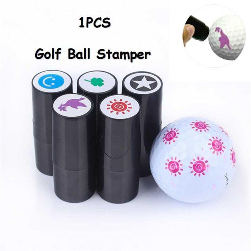 Outdoor Sports Quick-dry Plastic Golf Ball Stamper Stamp Marker Impression Seal Golf Club Accessories Golfer Souvenir Gift