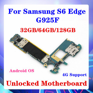 Image 1 - 32GB/64GB/128GB עבור Samsung Galaxy S6 קצה G925F האם עם שבב אנדרואיד OS ה SIM מפעיל כרטיס 4G תמיכת MB