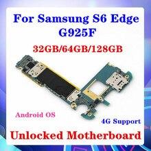 32GB/64GB/128GB Samsung Galaxy S6 kenar G925F anakart çip Android OS SIM kart operatörü 4G destek MB