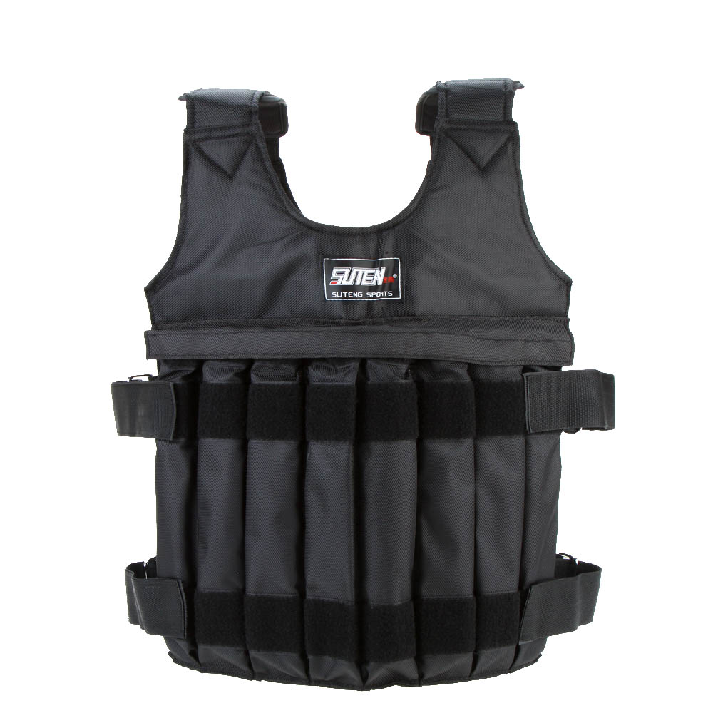 SUTEN 20kg/50kg Loading Weighted Vest For Boxing Training Workout Fitness Equipment Adjustable Waistcoat Jacket Sand Clothing|weight vest|sand clothingweights for vest - AliExpress