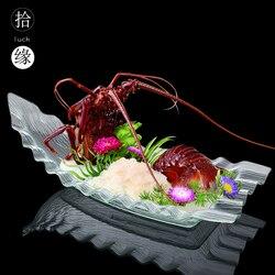 Styl japoński sashimi płyta lodowa smocza łódź w formie bufetu hotel duży rozmiar wyświetlacz owoce świeże owoce morza płyta plastikowe sushi danie