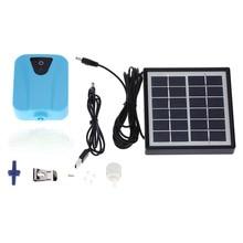 Аквариумный воздушный насос, 2 л/мин, Оксигенатор на солнечных батареях, кислородный насос для аквариума с USB-зарядкой, аэратор для пруда, вод...
