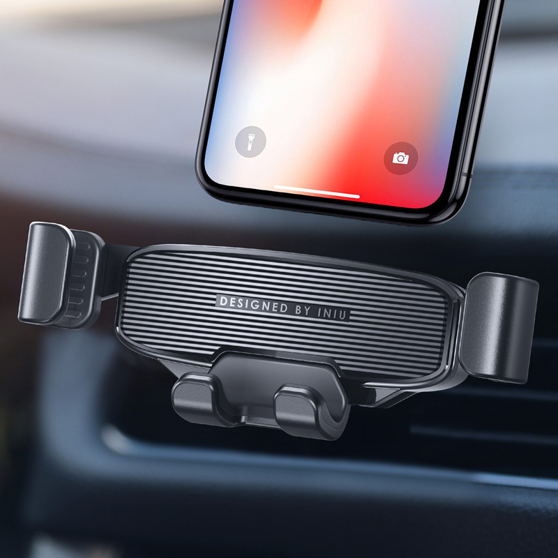 INIU Gravity Car Holder For Phone in Car Air Vent Mount No Magnetic Mobile Cell Phone Holder GPS Stand For iPhone Xiaomi Samsung(China)