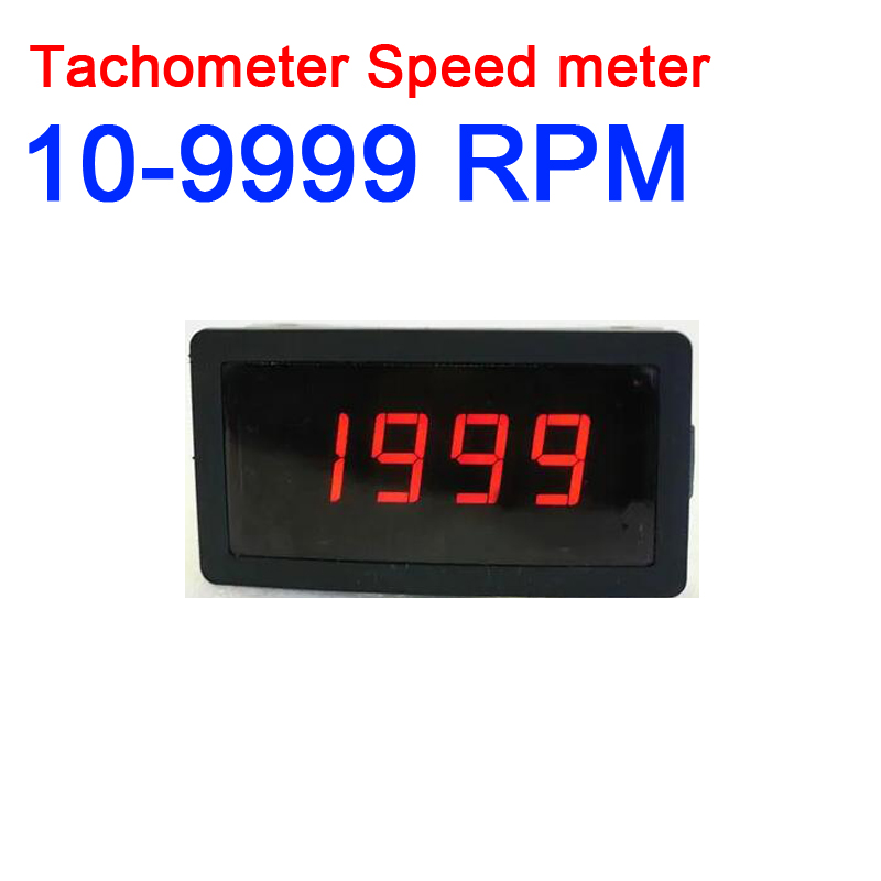"""dykb 0.56""""LED Display Digital Motor Tachometer Speed Measure Meter panel 10 9999RPM for 12v 24v car