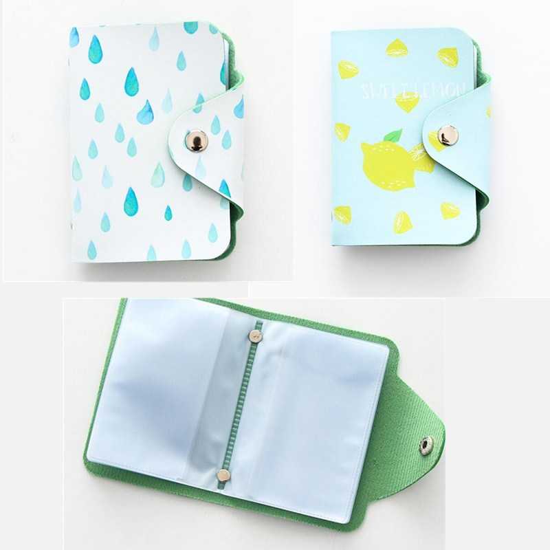 PU Leather Business Card Holder Student ID Cards Wallet