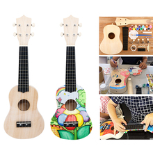 Children's Homemade Guitar Ukulele Hands-on Brain Manual Toys Parent-child Interaction DIY Musical Instrument Drawing Toys