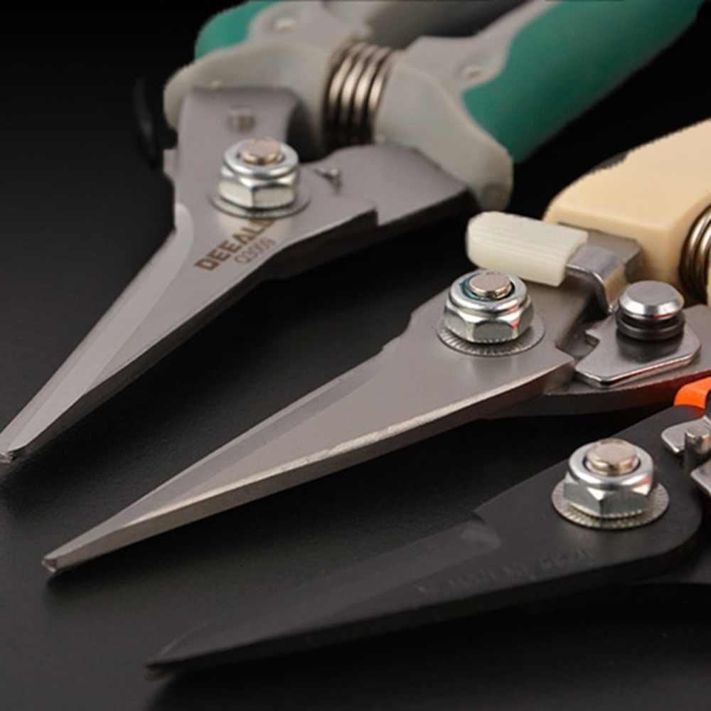 Wielofunkcyjne nożyczki ze stali nierdzewnej wysokiej jakości elektryk nożyczki do ściągania izolacji z kabli nóż do wycinania