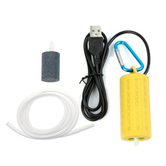 Mini USB Aquarium Fish Tank Oxygen Air Pump Quiet Energy Saving Supplies Aquatic Terrarium Fish Tank Accessories 5