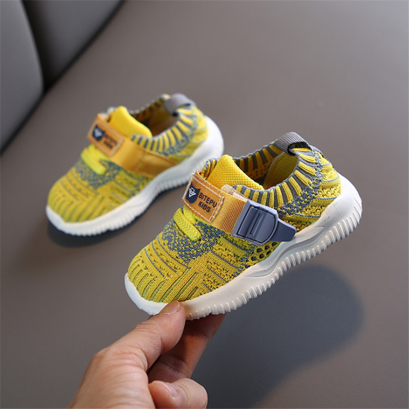 DIMI 2020 Spring Baby Shoes Boy Girl Toddler Shoes Breathable Knitting Infant Sneakers Fashion Soft Bottom Kids Baby Shoes