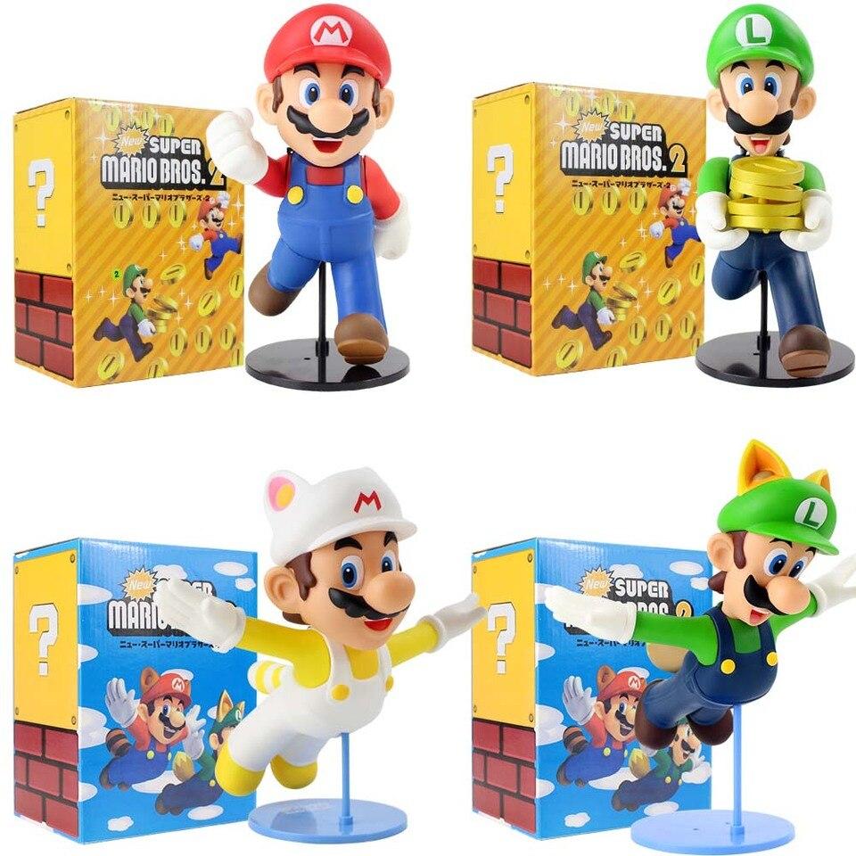 21 23cm Super Mario Bros 2 Luigi Mario Action Figure Anime New