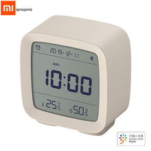 شاومي Qingping 3In1Bluetooth ساعة تنبيه ميزان الحرارة الرقمي درجة الحرارة الرطوبة مراقبة ضوء الليل مع Mijia App