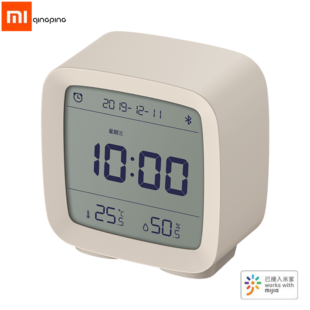 Xiaomi Qingping 3In1Bluetooth Alarm Clock Digital Thermometer Temperature Humidity Monitoring Night Light with Mijia App image