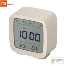Xiaomi qingping alarme relógio bluetooth 3 in1, alarme, termômetro digital, monitoramento de temperatura, umidade, luz noturna, com aplicativo mijia