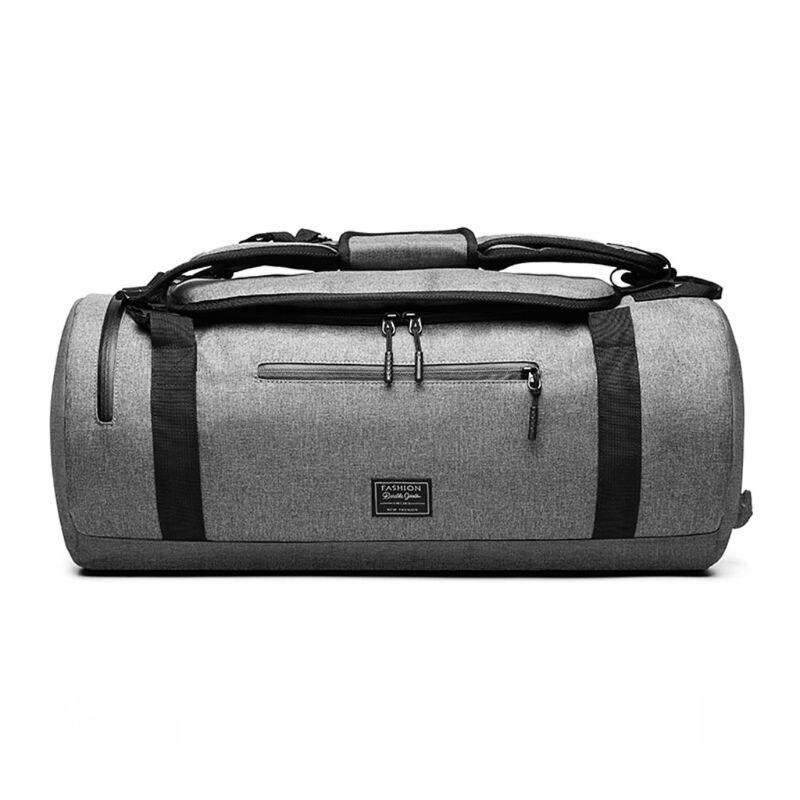 Многофункциональные унисекс модные спортивные сумки на плечо для тренажерного зала, сумки для фитнеса, тренировок, йоги, путешествий, сумка с ручками - Цвет: Серый