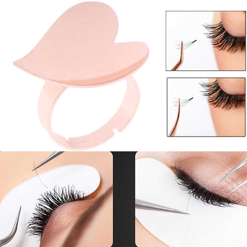 Reusable Gold Heart Shape Tattoo Adhesive Pigment Holders Pallet Holder Adhesive Eyelash Glue Ring Eyelash Extension Tool False Eyelashes Aliexpress