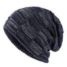 2019スタイリッシュなskulliesビーニー冬男性帽子厚く暖かい冬男性帽子厚いキャップビーニーキャップ冬のメンズ帽子gorros