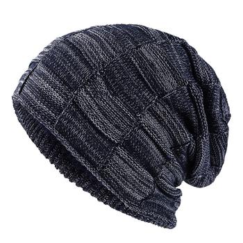 2019 stylowe Skullies czapki zimowe mężczyźni kapelusz grube ciepłe zimowe mężczyźni kapelusz grube czapki czapki czapka zimowe męskie kapelusze gorros tanie i dobre opinie jiangxihuitian COTTON Akrylowe Wełniana Dla osób dorosłych Na co dzień Wool cap knit cap Zwierząt beanies winter beanie cheap warm soft
