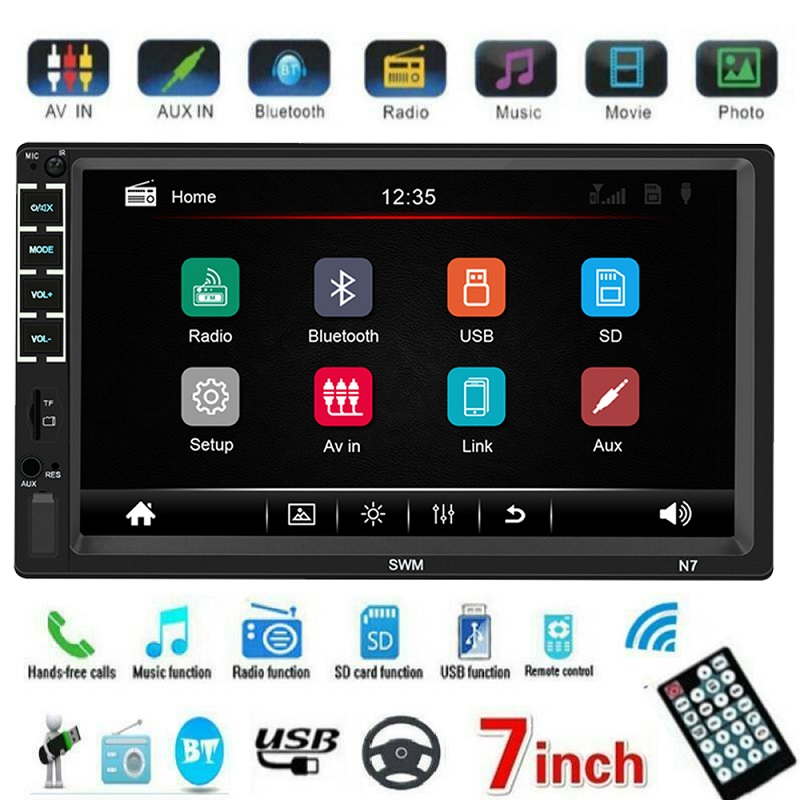 2 Din <font><b>Car</b></font> <font><b>Radio</b></font> MP5 Stereo Receiver <font><b>2Din</b></font> Capacitive Screen <font><b>Car</b></font> <font><b>radio</b></font> <font><b>Car</b></font> stereo Audio <font><b>AutoRadio</b></font> Mirror Link Support Rear Camera image