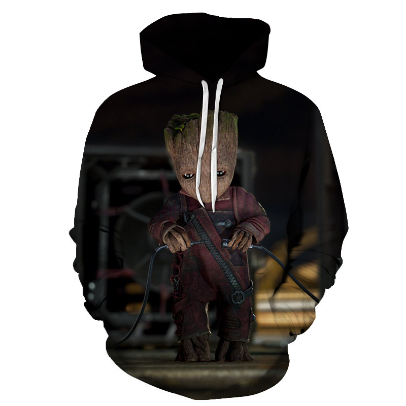 New Fashion Groot Printed 3D Hoodies Men Women Guardians Of The Galaxy Streetwear Male Spring Long Sleeve Tracksuit Man Pullover