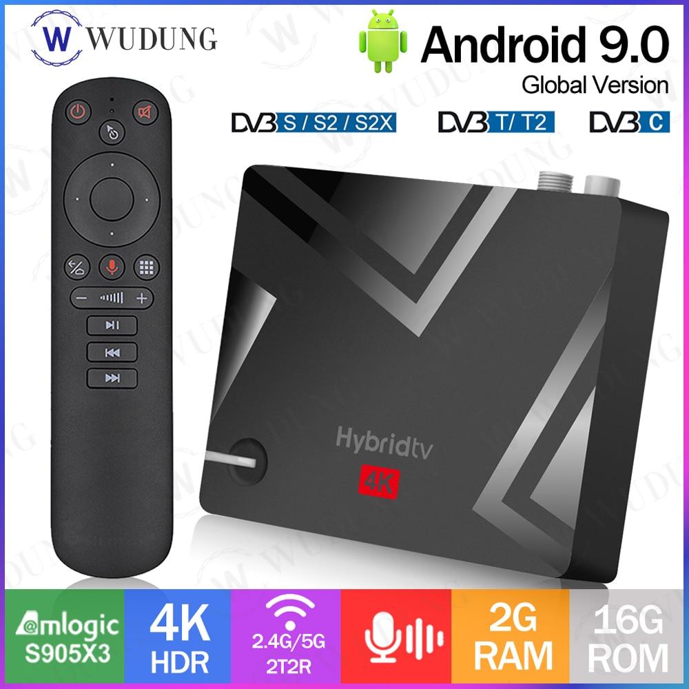 MECOOL K5 Amlogic S905X3 DVB S2/T2/أندرويد 9.0 مربع التلفزيون الذكية 2.4G 5G واي فاي بلوتوث 4.1 2GB 16GB مجموعة صندوق التلفاز PK K3 K7 صندوق التلفزيون
