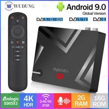 MECOOL K5 Amlogic S905X3 DVB S2/T2/ Android 9,0 Смарт ТВ коробка 2,4 г 5G WI-FI Bluetooth 4,1 2 Гб оперативной памяти, 16 Гб встроенной памяти, Декодер каналов кабельного телев...