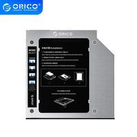 ORICO-jaula de disco duro SSD de 2,5 pulgadas, disco duro Caddy de aluminio, compatible con 2TB, caja de la unidad de disco duro, carcasa con Bahía de Funda de disco duro de 6Gbps