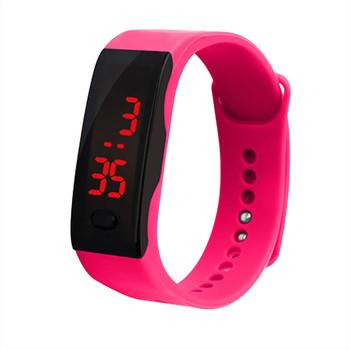 Bransoletka sportowa inteligentne zegarki damskie cyfrowe elektroniczne zegarki damskie dla kobiet zegarki damskie dziewczęce zegarki chłopięce Hodinky tanie i dobre opinie Cooeverly NONE Z tworzywa sztucznego CN (pochodzenie) 26cm 5Bar Cyfrowy Sprzączka ROUND 26mm Szkło Odporna na wstrząsy