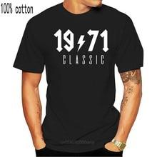 Sdyet. sty clássico 1971 t camisa masculina algodão verão legal manga curta presente de aniversário camiseta topos t mans OZ-191
