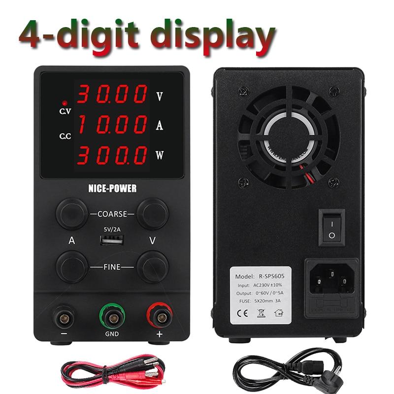 Switching Power Supply Adjustable USB DC Laboratory Light Transformer DC 110V 220V 30V 60V 120V Power Supply Source 10A 5A 3A-0